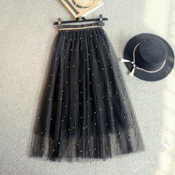 Sukně s perličkami