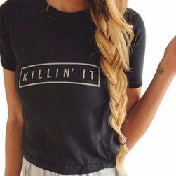 Ležérní tričko s cool nápisem - Killin' it
