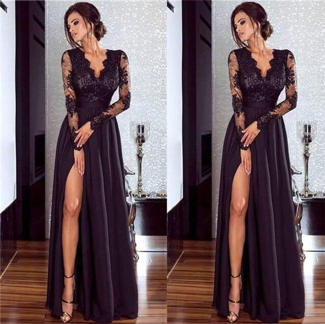 Luxusní plesové šaty - 2 barvy 1