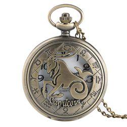 Джобен часовник във винтижд дизайн - Знаци на зодиака