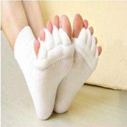 Ortopedické ponožky v bílé barvě
