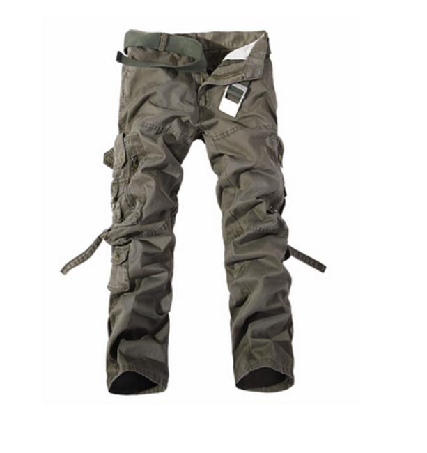 Pánské kalhoty s kapsami - armádní zelená, vel. 9  1
