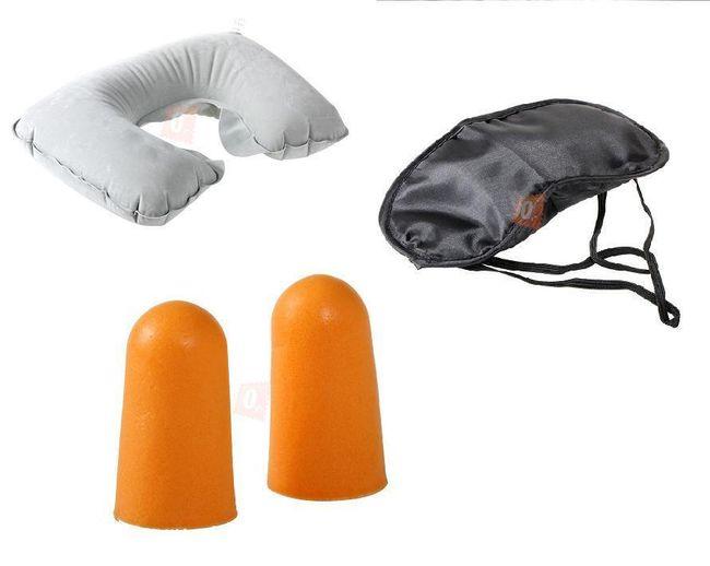 Sada pro pohodlné cestování - polštářek, škraboška a špunty do uší 1