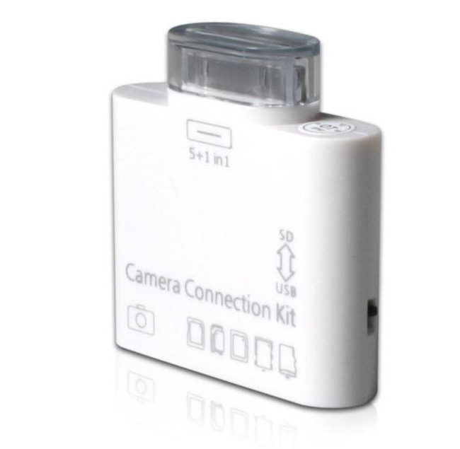 Čtečka SD/MMC/microSD karet pro iPad 1/2 a nový iPad do Apple konektoru 1