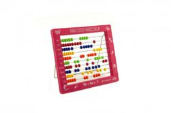 Numărătoare din plastic - 100 biluțe, 19x16cm 4 culori  (36buc într-o cutie) RM_00311132