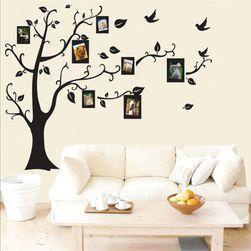 Стикер за стена - дърво с фоторамки