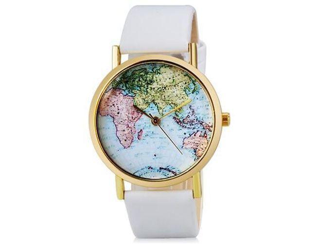 Zegarek z nadrukiem mapy świata - 2 kolory 1