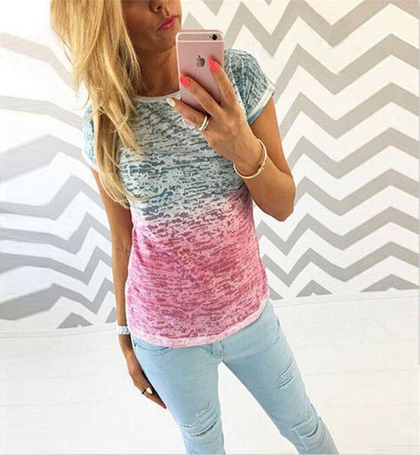 Dámské triko v atraktivní barevné kombinaci 1
