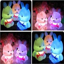Detská LED lampička v podobe králička