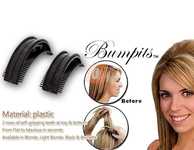 2 x włosowa wsuwka Bumpits - czarna 1