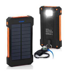 Vízálló Solar Power Bank Napelemes Töltő