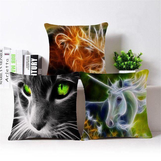 Față de pernă cu print animal 3D 1