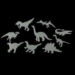 Świecące dinozaury na ścianie - 9 sztuk