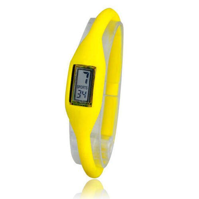 Cyfrowy silikonowy zegarek ION - Żółty 1
