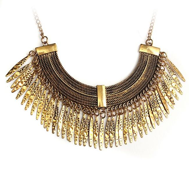 Antik stílusú arany színű nyaklánc 1