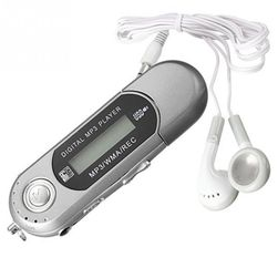 MP3 player - srebrna barva