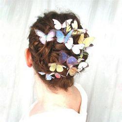 Pillangók a hajhoz - 10 darab