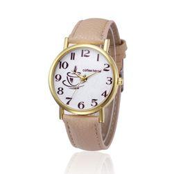 Zegarek unisex z filiżanką kawy - 4 kolory