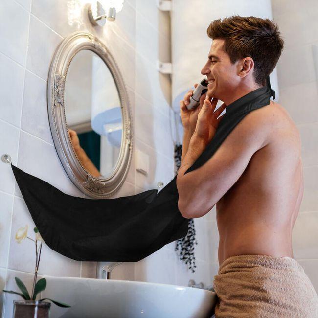 Zástěra na holení pro muže - černá 1