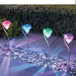 Zewnętrzne oświetlenie na energię słoneczną - 4 sztuki