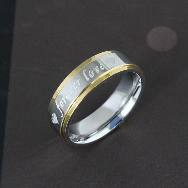 Prsten s nápisem: forever love 1