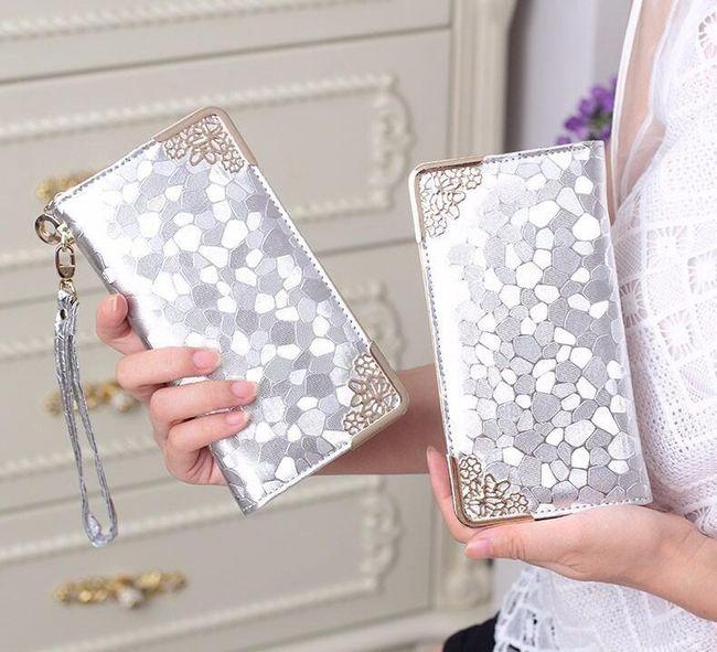 Dámská peněženka v luxusním designu - Stříbrná 1