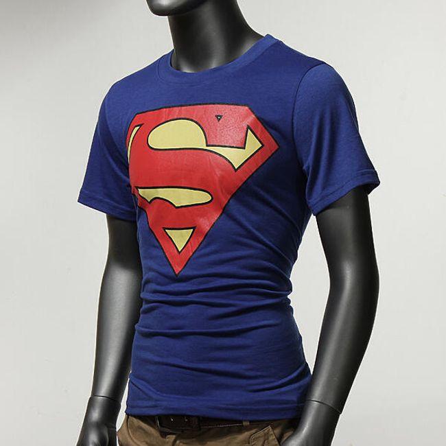 Pánské tričko s motivem akčního superhrdiny - modré 1