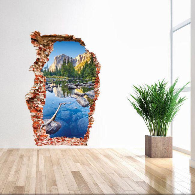 3D-s matrica a falon - hegyi folyó 1