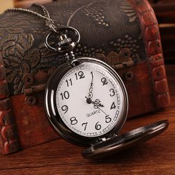 Kapesní hodinky v černé barvě - unisex