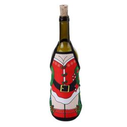 Decorațiune amuzantă de Crăciun pentru sticle