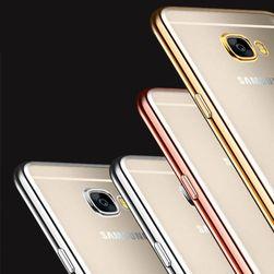 Transparentní pouzdro s barevným lemem pro Samsung Galaxy - 3 barvy