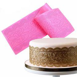 Силиконова дантелна за украса на торти