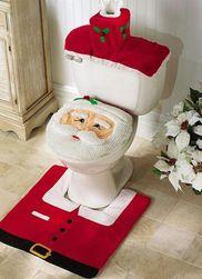 Vánoční dekorace na WC