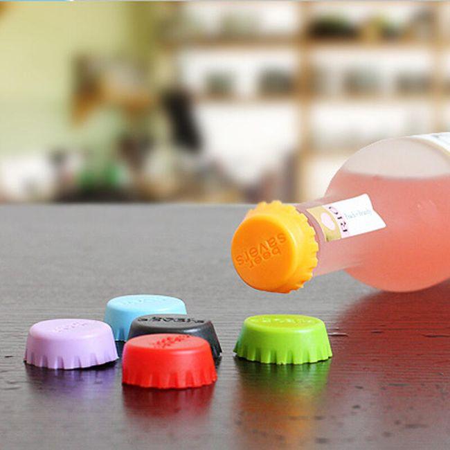 6 kosov silikonskih zamaškov za steklenice 1