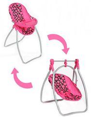 Jedálenská stolička a hojdačka 2v1 pre bábiky RW_zidlicka-playto-isabella