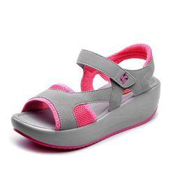 Dámské sandály s vyšší podrážkou - různé barvy