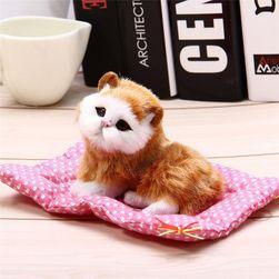 Плюшевая кошка со звуком KM68