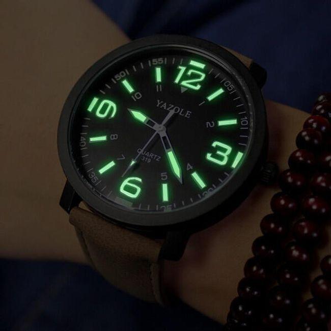 Наручные мужские часы с фосфоресцирующим циферблатом 1