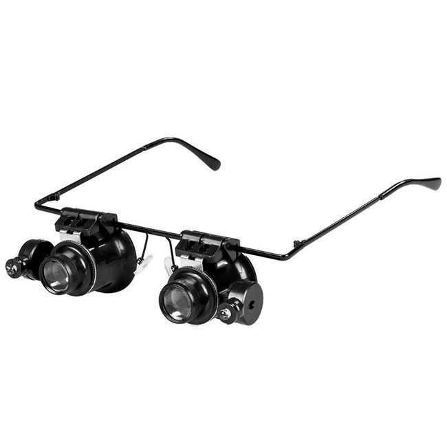 Ochelari de mărire cu 20x zoom și lumină 1