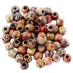 DIY drewniane koraliki - 100 sztuk