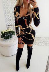 Женское платье с длинными рукавами Stien