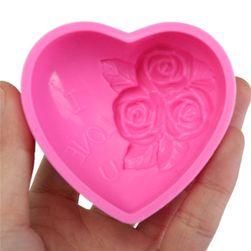 Silikonski kalup u obliku srca sa ružama
