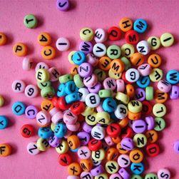DIY бусины с буквами латинского алфавита- 100 шт.