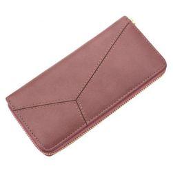 Przestronny portfel damski na zamek błyskawiczny - 7 kolorów