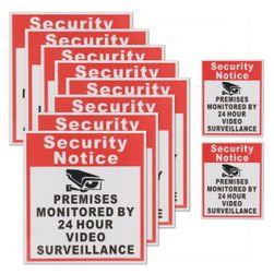 Sada bezpečnostních samolepek - kamera
