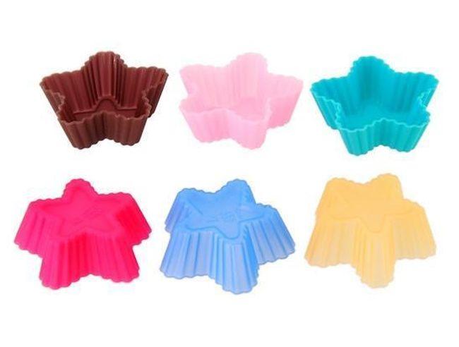 Silikonové formičky na muffiny ve tvaru hvězdy - 20 kusů 1