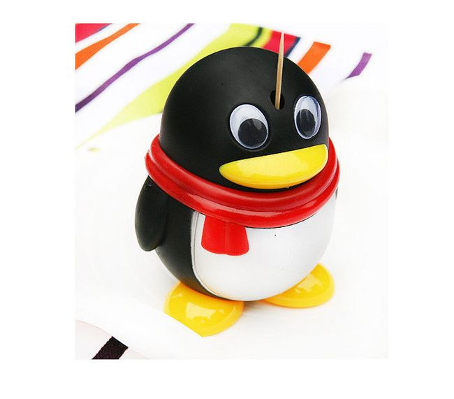 Držák na párátka ve tvaru tučňáka 1