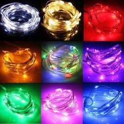 Коледна LED верига - 3 м, няколко цветни варианта