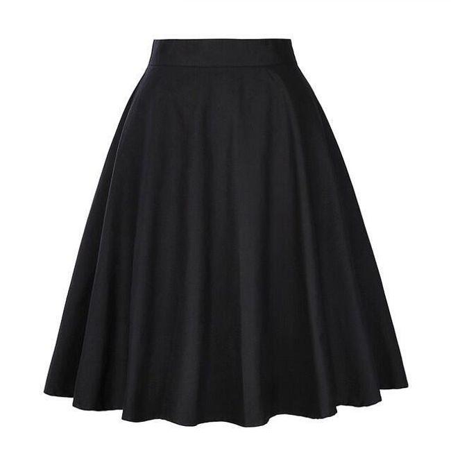 Sukně s vysokým pasem Lottie - Černá-L 1