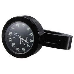 Analogové hodiny na motorku - černé